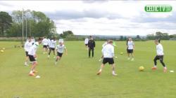 Training at Lennoxtown